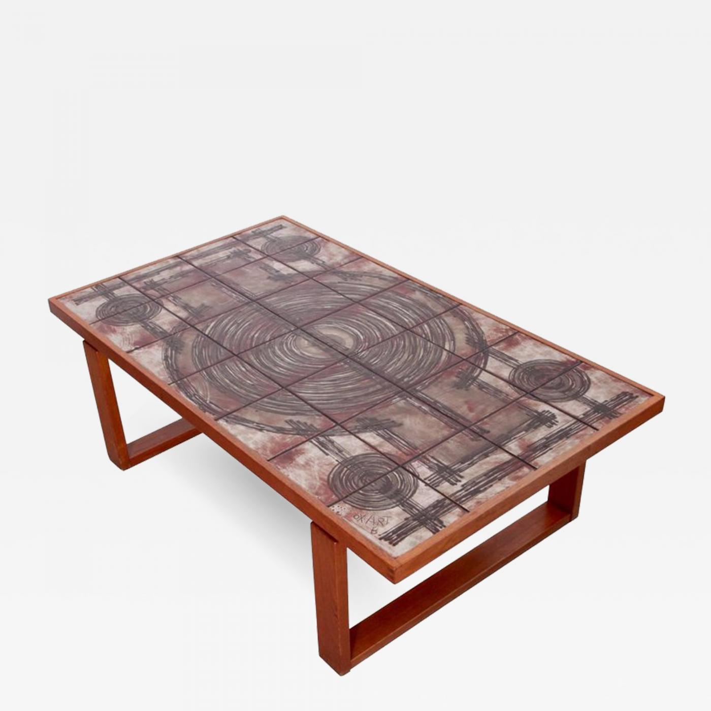 ox art large danish teak art sofa or coffee table by ox art