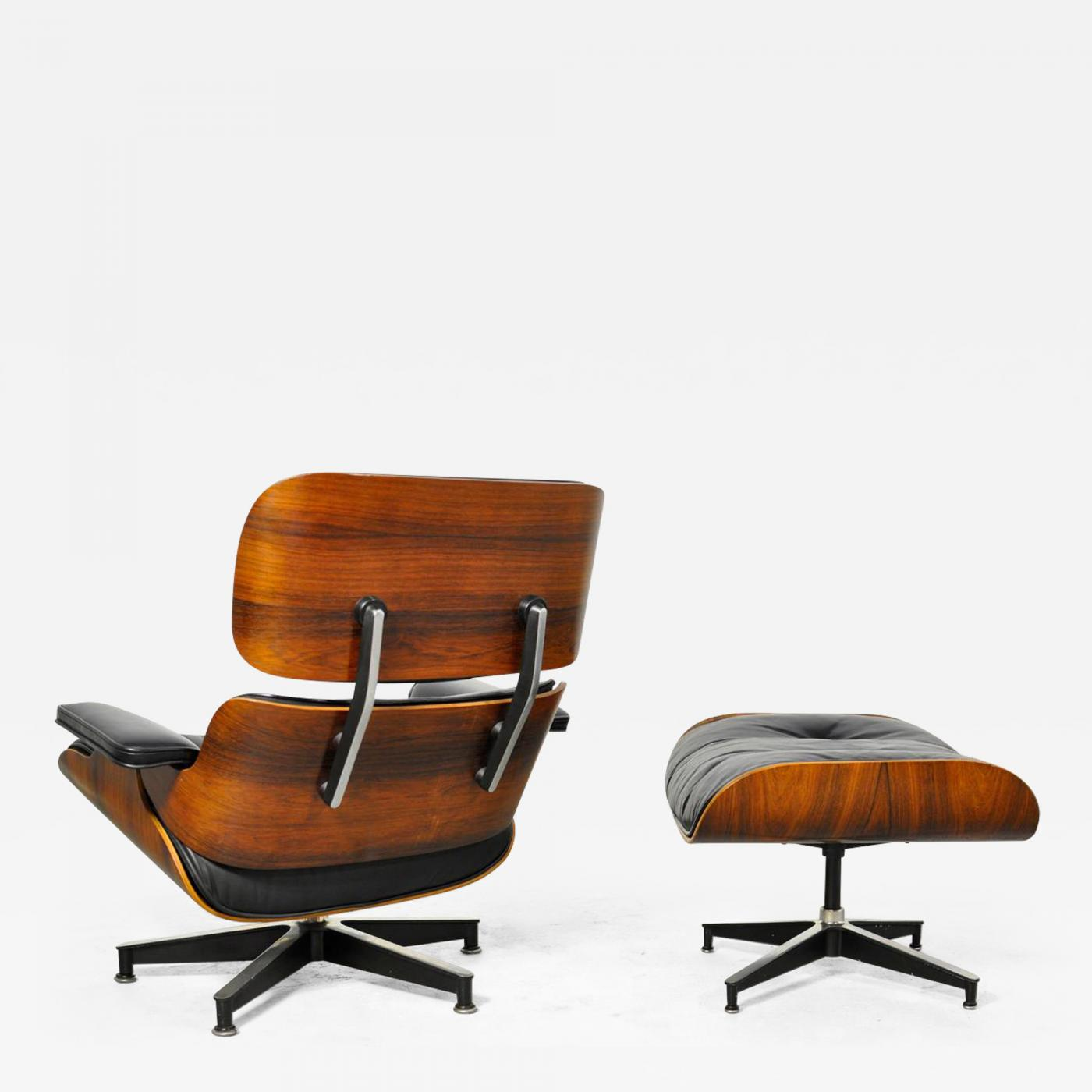 Charles Ray Eames Vintage Rosewood Lounge Chair And Ottoman By Charles Eames