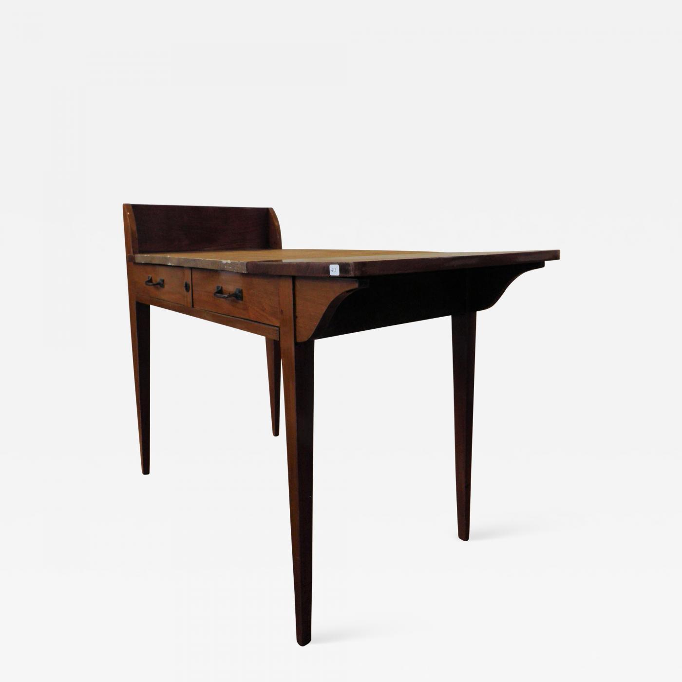 Eugene Printz Art Deco Wooden Desk By Eugene Printz