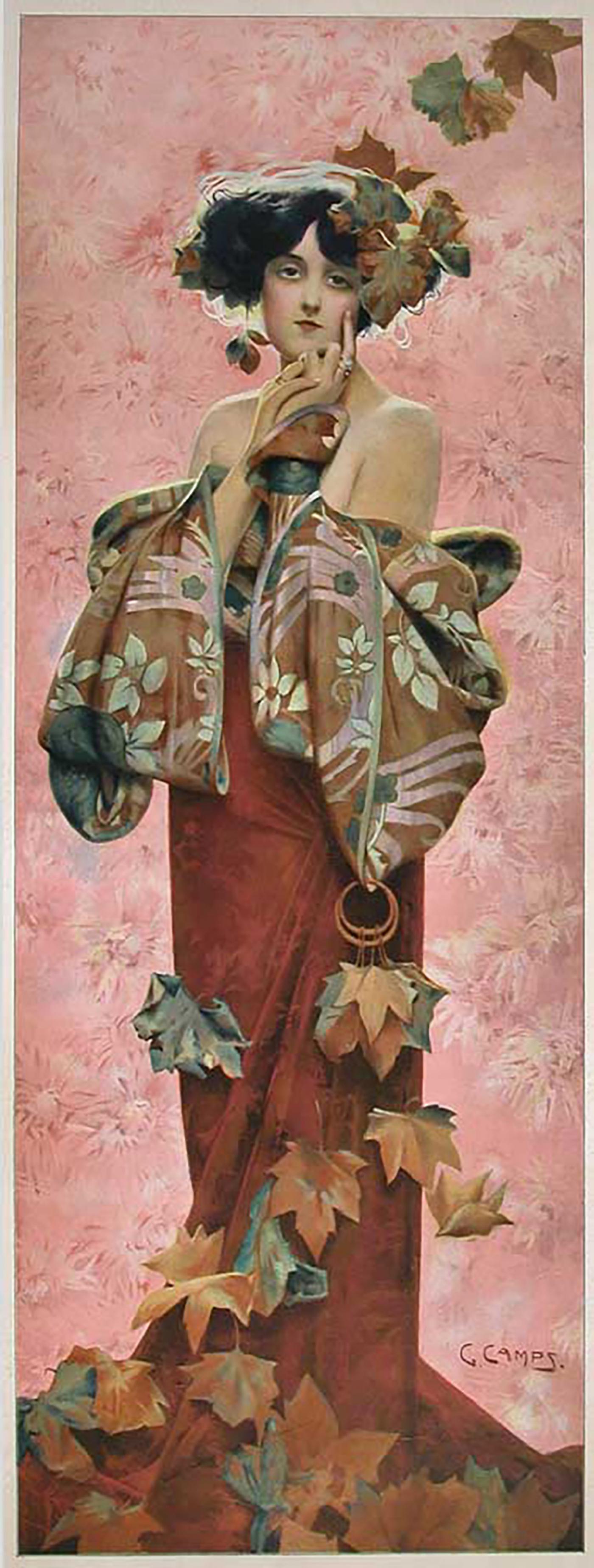 Gaspar Camps Fall A French Art Nouveau Period