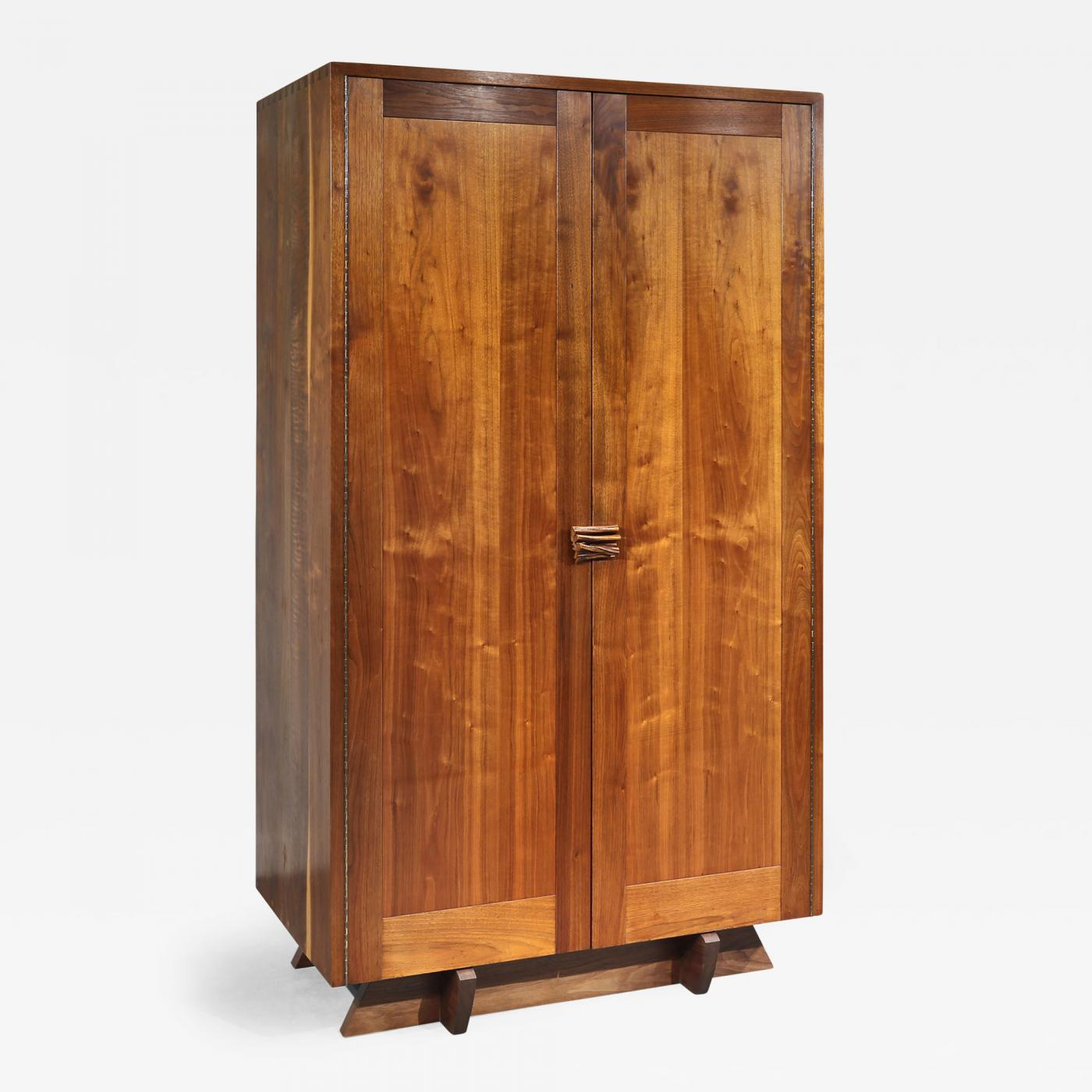 unique custom armoire by george nakashima 1957 2 avail w different interiors