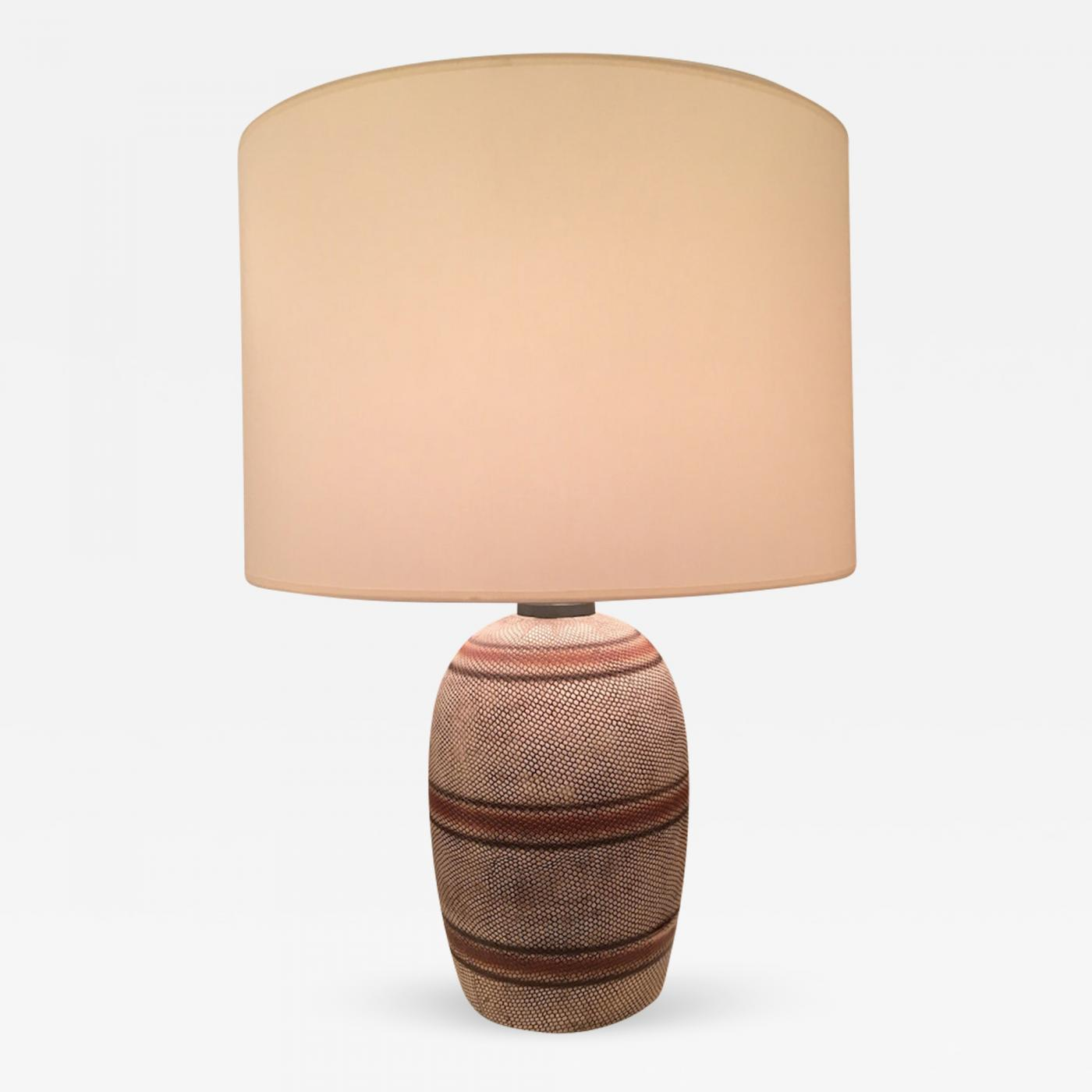 Georges Jouve French Ceramic Mid Century Table Lamp
