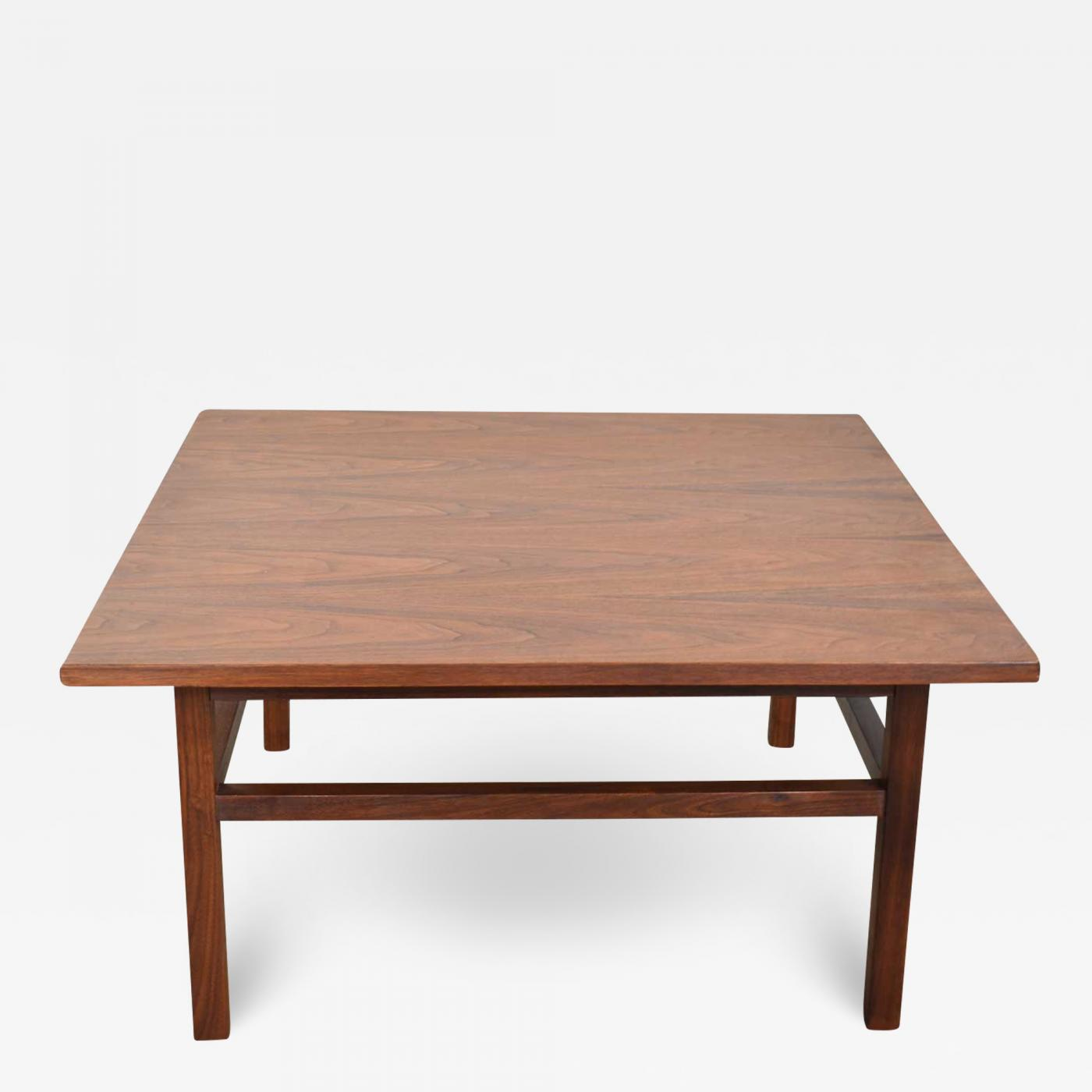 mcm square walnut cocktail coffee end or side table style founders
