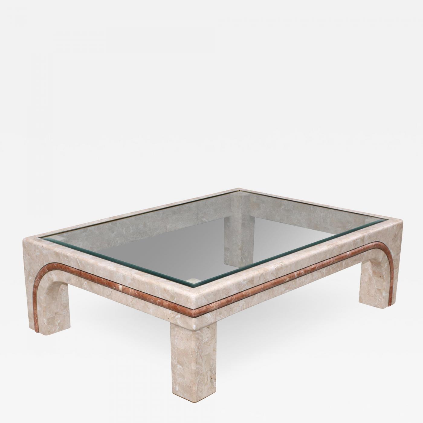 maitland smith overzise tessellated stone coffee table