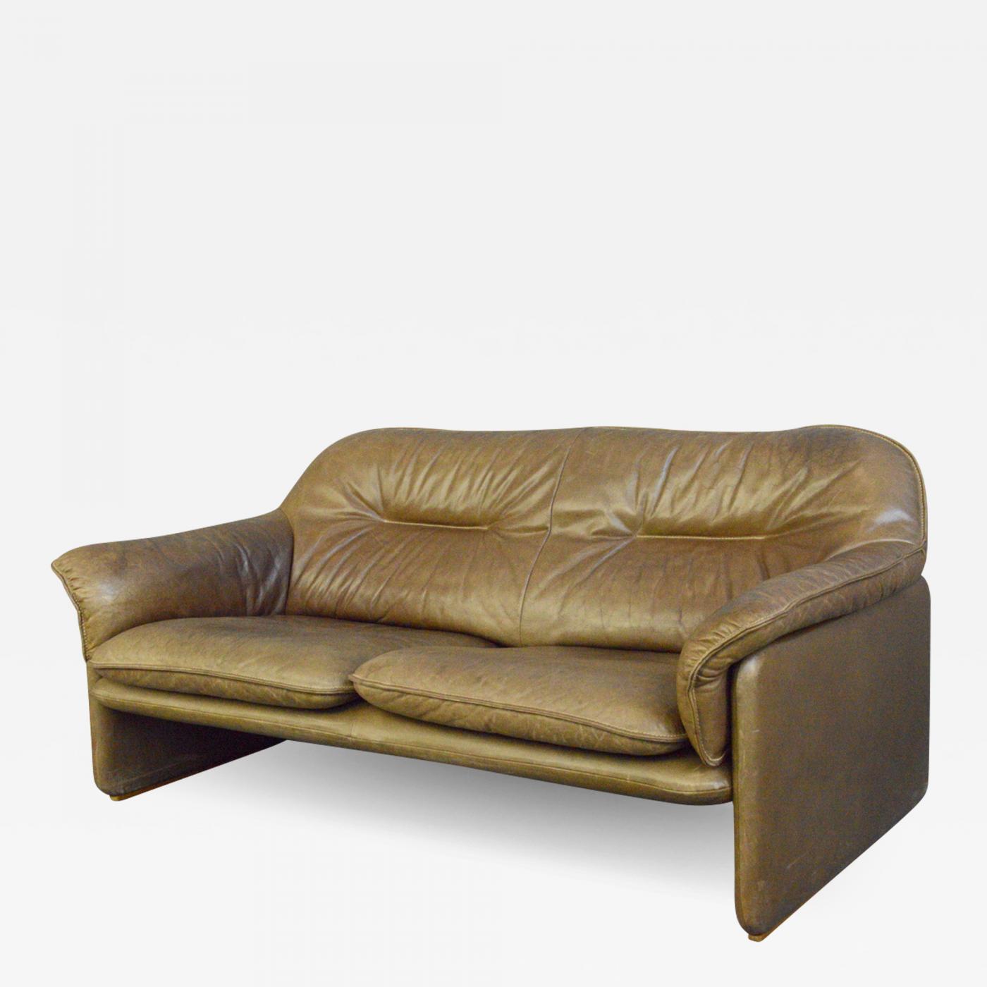 Mid Century Leather Sofa By De Sede Circa 1960s