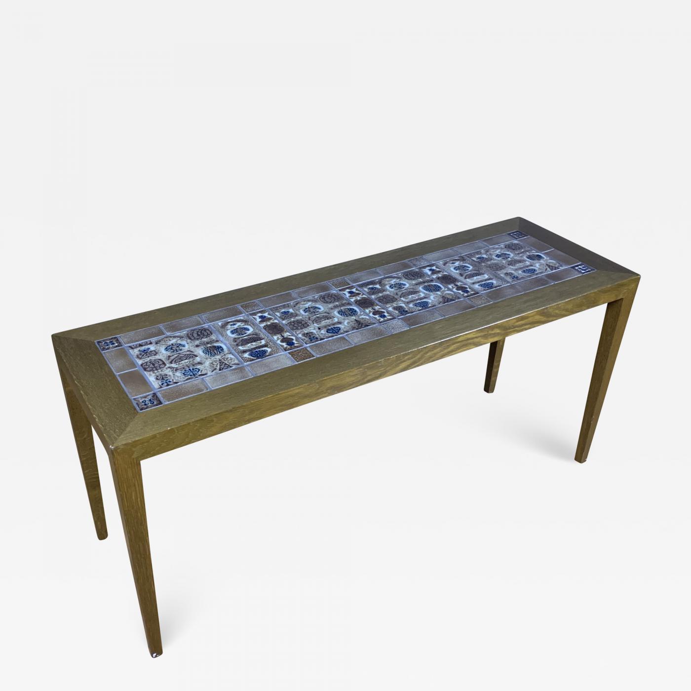 severin hansen 1960s severin hansen jr narrow coffee table for haslev mobelfabrik