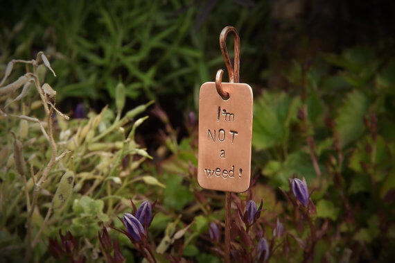 Copper garden labels