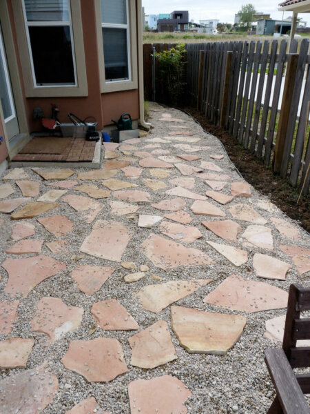 pea gravel patios insteading