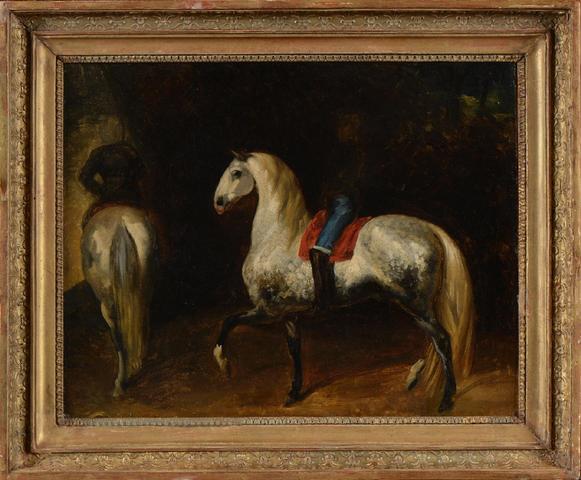 128Théodore GERICAULT (1791-1824) Le Manège Huile sur toile. 30