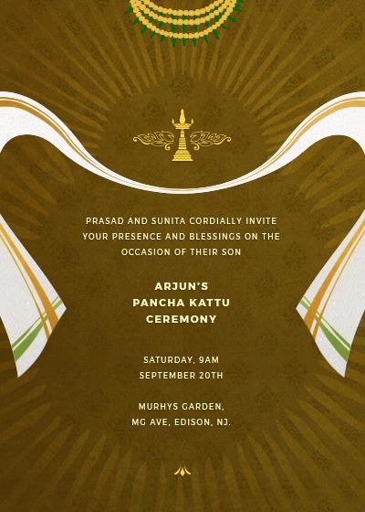 Folk Hues And Radiance Invitation Invites