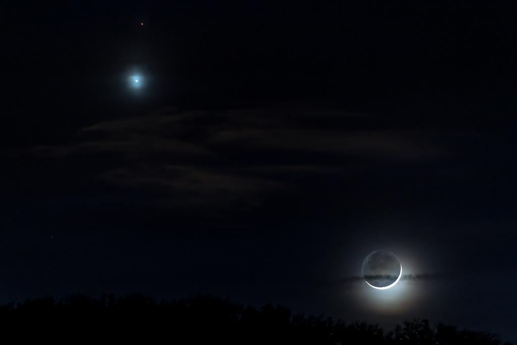 Mars, Venus & Mond - 20150220