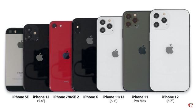 Here S An Iphone 12 Size Comparison With Iphone Se Se 2 7 8 X And 11 Pics Iphone In Canada Blog