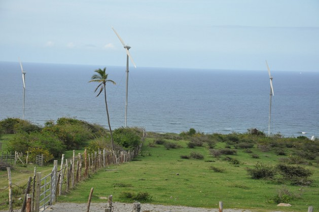 In 2010, the 13-kilometre-long island of Nevis launched the first-ever wind farm to be commissioned in the OECS with a promise to provide jobs for islanders, a reliable supply of wind energy, cheaper electricity and a reduction in surcharge and the use of imported oils. Credit: Desmond Brown/IPS