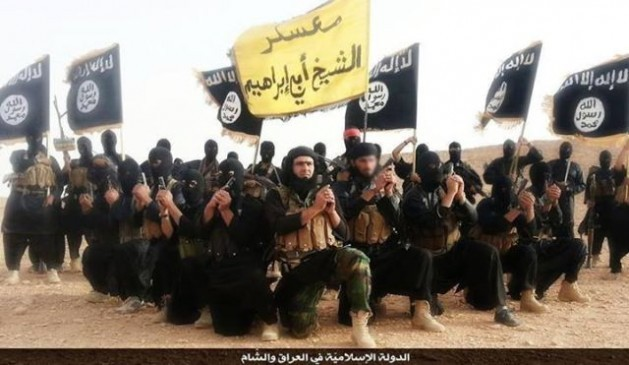 Islamic State fighters pictured here in a 2014 propaganda video shot in Iraq's Anbar province.
