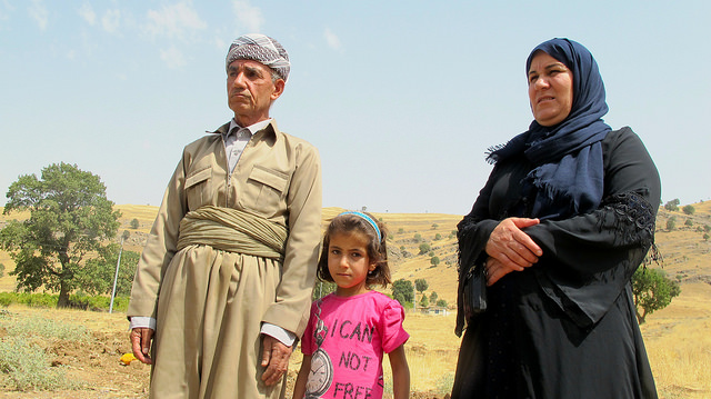 Maryam and Dalyan Hussein are the widow and the brother in law of one of the killed in the Kurdish village of Zergely. Both say that the shelling of their area by Turkish warplanes in