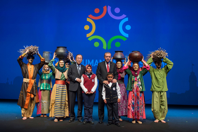 "Secretary-General Ban Ki-moon and Turkish President Recep Tayyip Erdogan hailed the Summit as a ""turning point"" that has ""set a new course"" in humanitarian aid. ""We have the wealth, knowledge and awareness to take better care of one another,"" Ban said. Photo: UNOCHA"