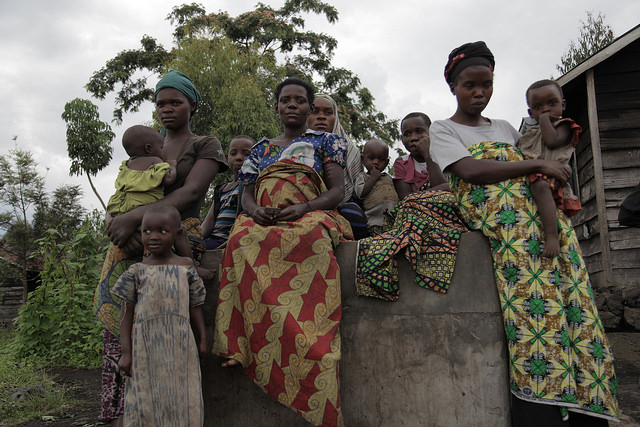 A group of women from Mudja, DRC. Elders worry that the community is beginning to lose their knowledge of traditional medicine and plants. Credit: Zahra Moloo/IPS