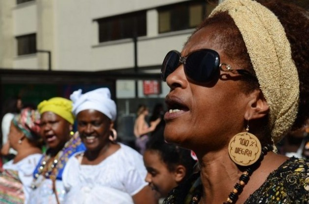 A group of black women take part in Black Awareness Day celebrated on Nov. 20 in the city of São Paulo. Gender-related violence has increased, in particular among women of African descent in Brazil, despite the passage of better laws. Credit: Rovena Rosa/ Agência Brasil
