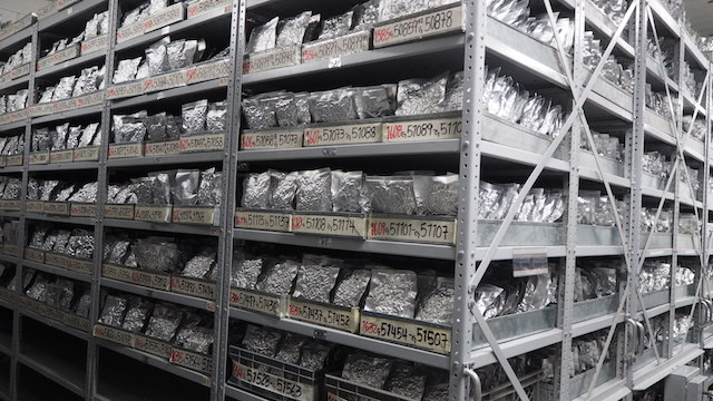 In the basement of an old lab near Cali, Colombia, there are 38,000 samples of beans stored in minus 20 degrees Celsius. Credit: Ida Karlsson/IPS