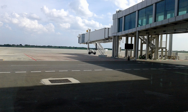 The multi-million-dollar Mattala International Airport, inaugurated in 2013, now serves just one flight per day at best. The Sri Lankan government has been searching for ways to make it a profitable venture. Credit: Amantha Perera/IPS