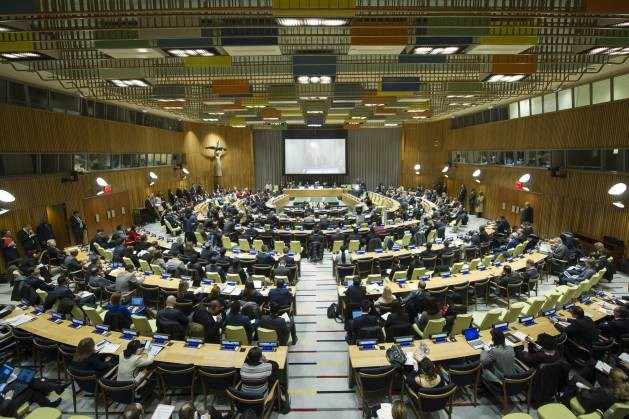 General Assembly Holds High-level Dialogue on Building Sustainable Peace for All. Two executive orders are being prepared to reduce the US' role in in the United Nations and other international organisations. Credit: UN Photo/Manuel Elias.