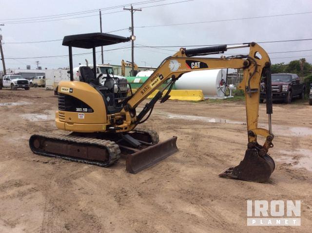 2011 Cat 303.5DCR Mini Excavator In Freeport, Texas