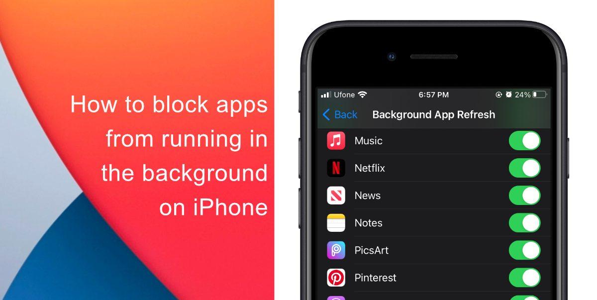Как запретить запуск приложений в фоновом режиме на iPhone