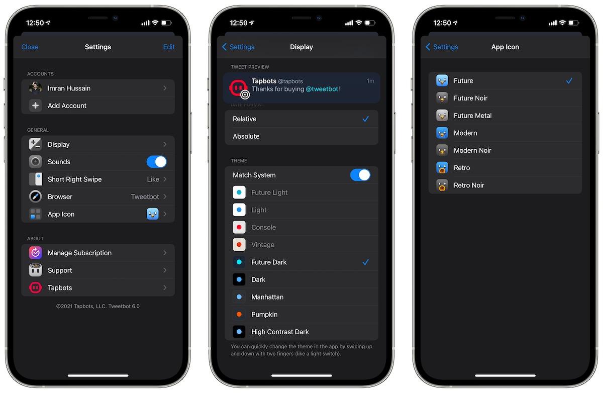 Tweetbot 6 Настройки приложения Twitter для iOS