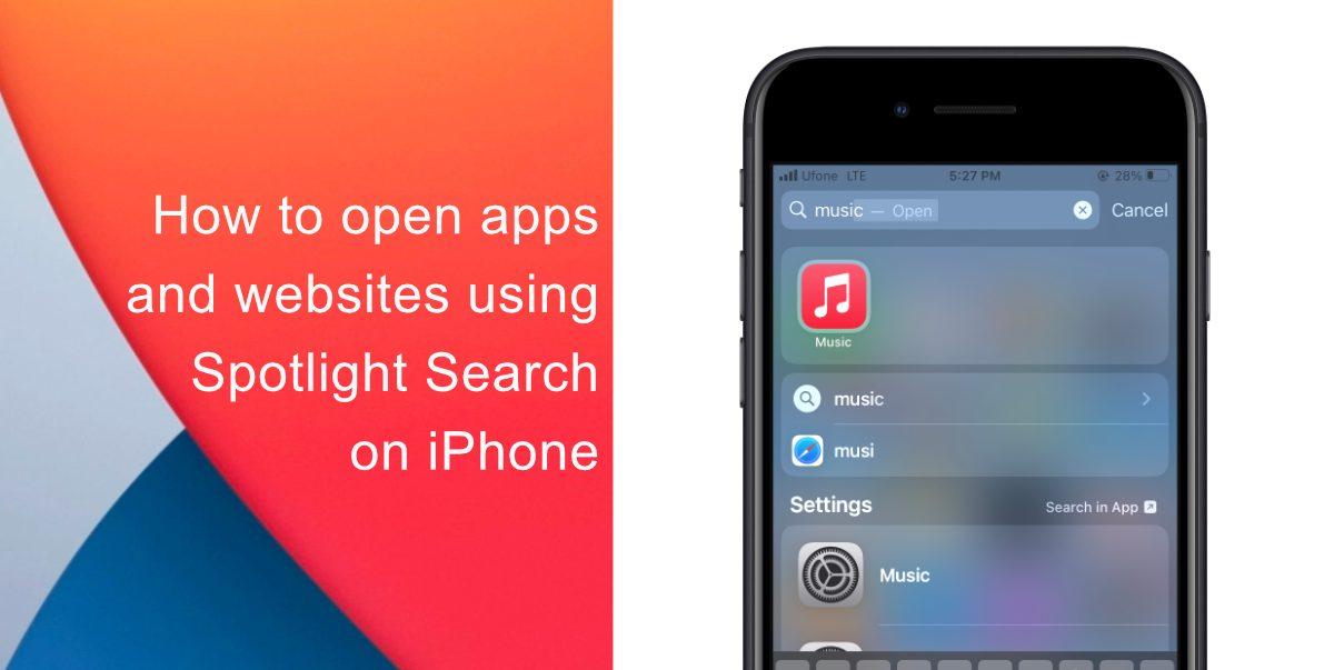 Поиск Spotlight на iPhone