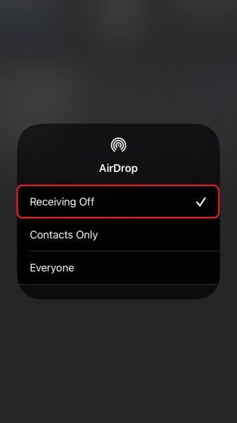 Изменить настройки конфиденциальности AirDrop