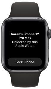 Apple Watch разблокирован iPhone