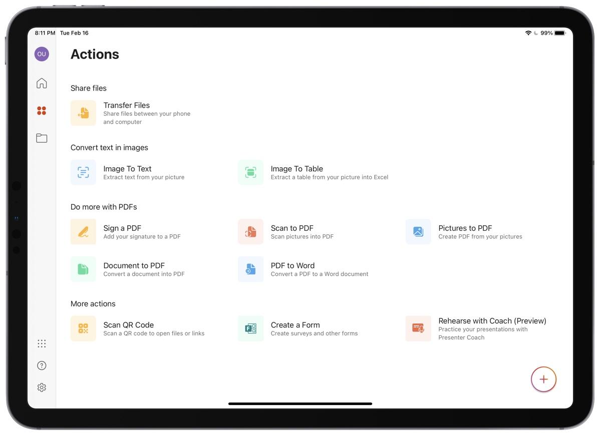 Приложение Microsoft Office для iPad 2