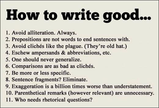 How to write good...