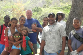 Members Of The Shotokan Karate Club After They Cleaned Up Lower Bay Beach, Bequia.