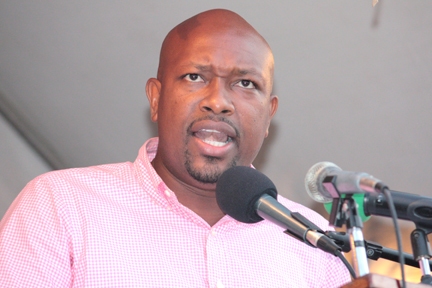 Minister Of Agriculture And Fisheries, Saboto Caesar.