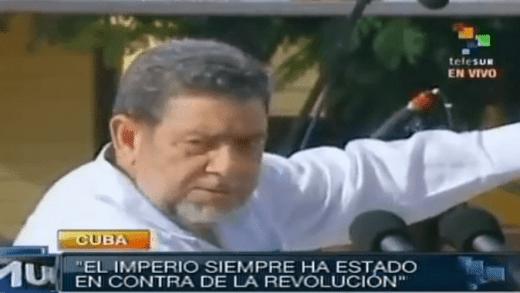Pm Gonsalves In Cuba