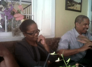 In This Image Captured From Video, Lawyer Andrew Pilgrim, Qc, Gestures As He Talks With Police During And Attempt To Arrest Sen. Vynnette Frederick, Left, On Thursday, July 11, 2013.