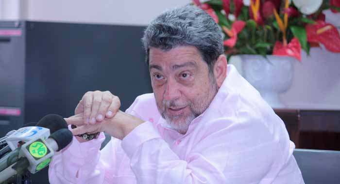 """Prime Minister Dr. Ralph Gonsalves Says He Is """"Absolutely Fed Up"""" With The Constant Industrial Action At Liat (Iwn File Photo)"""