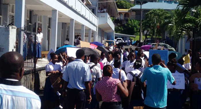 Students Protest At Sjck On Monday.