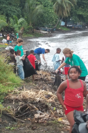 The Clean Up Of The Fitz Hughes Beach On Monday.