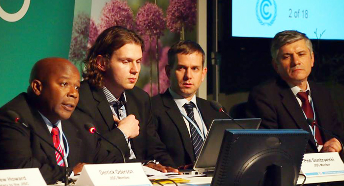 Derrick F.b. Oderson, Left, Is Chair Of The Joint Implementation Supervisory Committee. (Unfccc Photo)