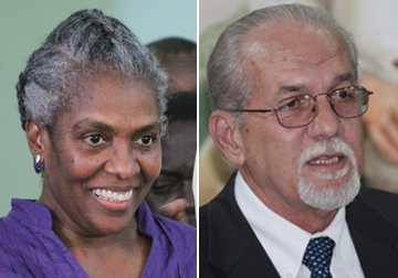 Luzette King, Left, And Sen. Julian Francis. (Montage Image)