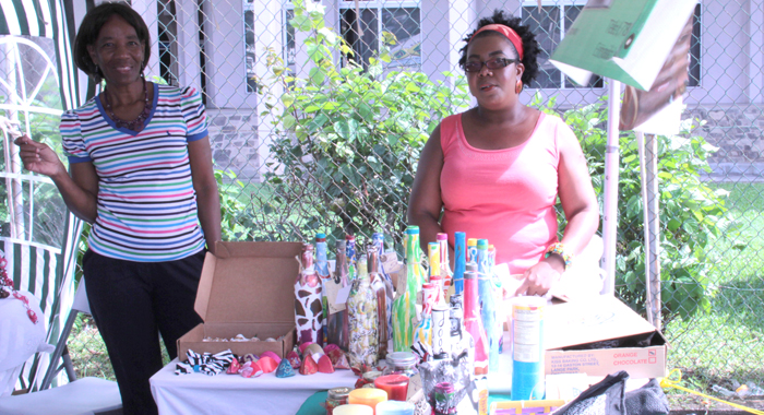 Artisan Ingrid John, Right, Had Planned To Use The Event To Launch A New Product Line. (Iwn Photo)