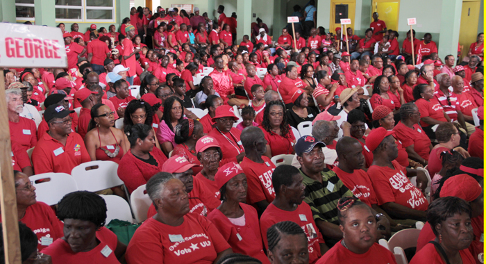 Supporters Of The Unity Labour Party At The Convention In February 2014. (Iwn Photo)