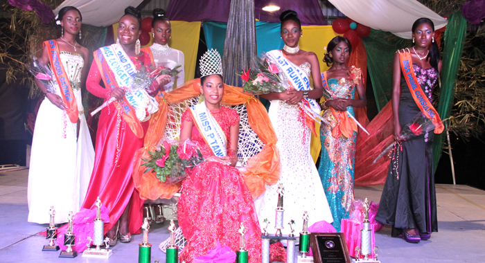 Miss P'Tani 2014 Solange Fernandez And The Other Contestants. (Iwn Photo)