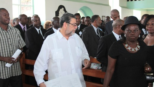 Gonsalves At Lynch Funeral