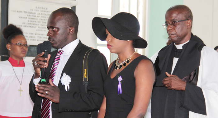 Keno, Right, And Shafia, Two Of Lynch'S Children, Appeal For Silence At The Funeral. (Iwn Photo)