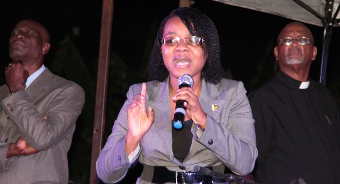 Drp Leader Anesia Baptiste, As She Addressed The Peace And Prayer Rally. (Iwn Photo)