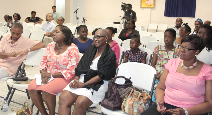 Svg Human Rights Association President Nicole Sylvester,  Third Left, And Other Members Of The Audience At Saturday'S Event. (Iwn Photo)