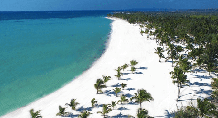 A Typical Dominican Republic Beach.
